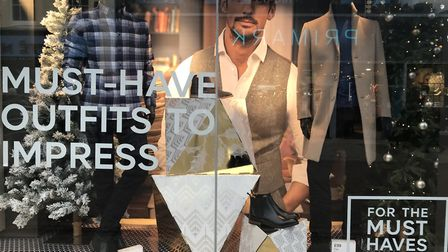 The men's display in the shopfront of M&S Ipswich. Picture: Jessica Hill
