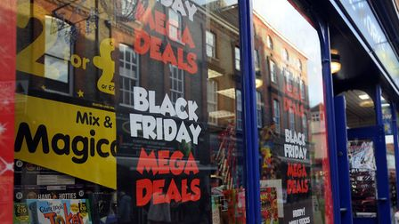 A 2015 picture of an Ipswich store ready for Black Friday. Picture: Phil Morley