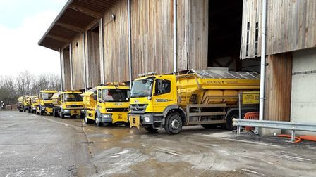 Suffolk Highways gritters are ready if the temperature falls. Picture: SUFFOLK HIGHWAYS