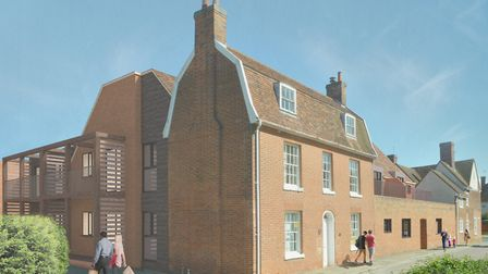 An architects' impression of the new homes on the Babergh offices site. Picture; BABERGH COUNCIL