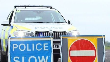 Poilce have closed the A140. Picture: HALESWORTH POLICE