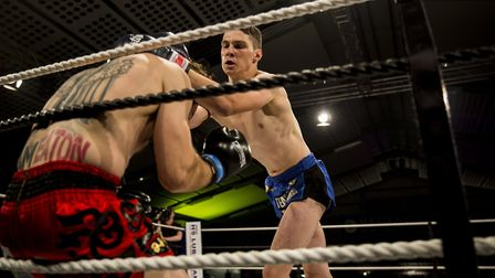 Ace kickboxer Modestas Andrijauskas fights in the co-main event of Contenders 25 in Norwich. Picture