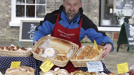 Richard Monk of the Norwegian Bakers who will be at Essex Vegan Festival in Colchester on Sunday, No