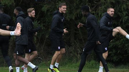 Teddy Bishop and Emyr Huws were both able to take part in training for Paul Lambert's first week in