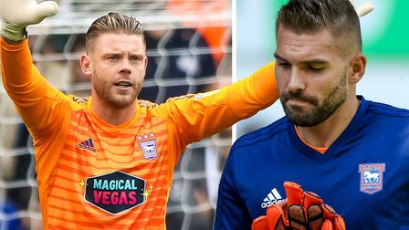 Dean Gerken took Bialkowski's place in goal for the Norwich game. Picture: ARCHANT