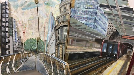 London Perspectives (detail) by Daisy Gemmel, part of the Anna Airy Exhibition currently being stage