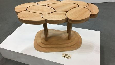 Natural Form Table by Olivia Betts, part of the Anna Airy Exhibition currently being staged at the U
