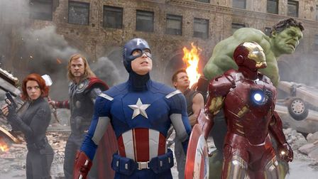 The cast of the film Avengers Assemble,