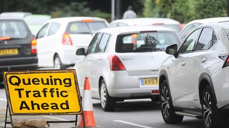 Generic photo of queuing traffic. Picture: Gregg Brown