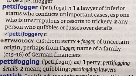 Pettifogging is still in the dictionary but doesn't get much use - is it time for a revival? Picture