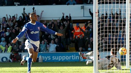 In 2006, Town beat Norwich 3-1 at Portman Road