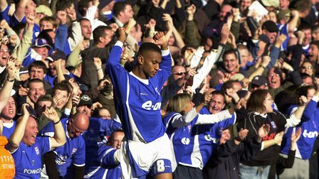 Danny Haynes scored twice as he came on as a sub in Town's 3-1 win over Norwich in 2006