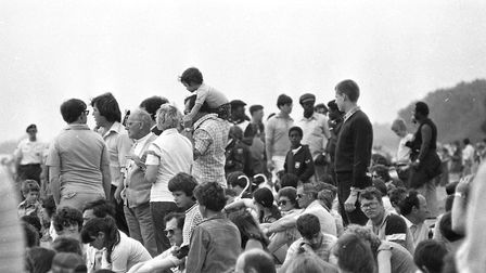 Crowds enjoy the Bentwaters Open Day in 1979 Picture: JOHN KERR