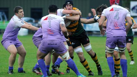 Will Scholes, battled hard for Bury at Redruth, as did all his team-mates Photo: ANDY ABBOTT