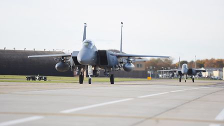 The driver hit the fence line at RAF Lakenheath Picture: GREGG BROWN