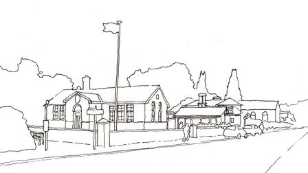 An artist's drawing of what the village hall might look like Picture: WESTLETON VILLAGE HALL