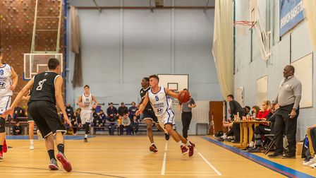 Cameron Hawes looking to set the offence in motion for Ipswich against Myerscough Photo: PAVEL KRIC