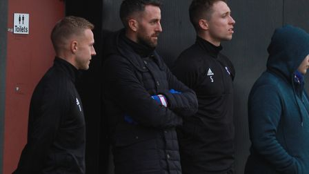 Danny Rowe, Cole Skuse and Matthew Pennington were watching on. Picture: ROSS HALLS