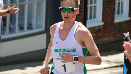 Andrew Rooke, who was first home at the Suffolk Winter League cross country event at Framlingham. Pi