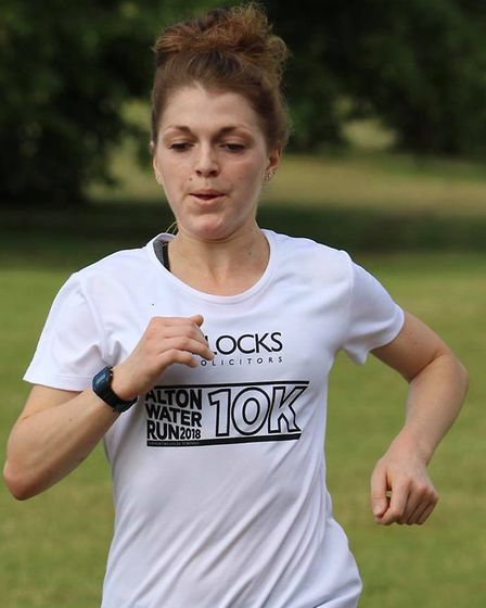 Daisy Glover, who was the first female finisher at Framlingham