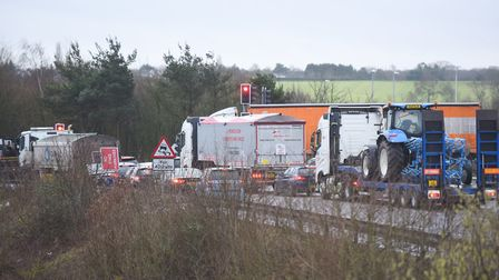 The incident happened at the Copdock Interchange where the A14 meets the A12 (stock image) Picture: