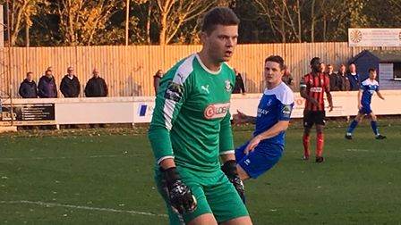 James Bransgrove, in action for Coggeshall Town at Bury Town on Saturday. Picture: CARL MARSTON