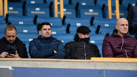 Matt Gill, Stuart Taylor, Paul Lambert and Jim Henry watched the game at Millwall. Picture Pagepix