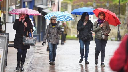 Temperatures set to drop today with possible outbreaks of hail. Picture: GREGG BROWN