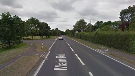 The road worker was attacked while diverting traffic on the A12 at Darsham Picture: GOOGLE MAPS