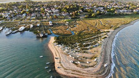 Drone footage over Mersea Island in Essex. Picture by Ed Taylor