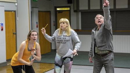 Practising those frightened faces for Bury St Edmunds Theatre Royal panto Sleeping Beauty. Photo: A