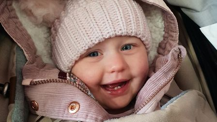 Little Grace, who is 17 months old, is constantly in and out of hospital for tests Picture: SUPPLIED