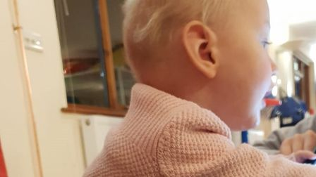 The baby girl suffered a seizure in late January last year, which prompted a trip to Colchester Hosp