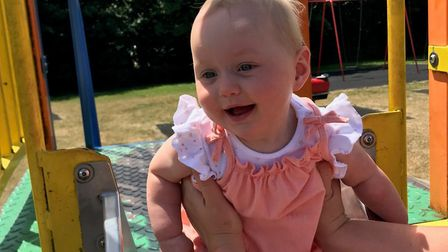 Little Grace may never walk or talk Picture: SUPPLIED BY FAMILY