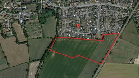 The land off Pretyman Avenue in Bacton eyed for development Picture: GOOGLE MAPS