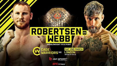 Colchester's James Webb will fight Thomas Robertsen for the Cage Warriors world middleweight title a