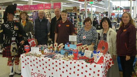The poppy appeal at Mildenhall Sainsbury's raised more than £11,000 for the Royal British Legion Pic