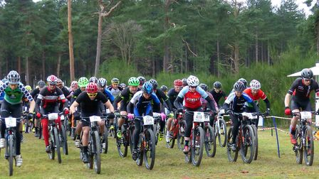 The start of the 90-minute race in Thetford Forest. Picture: FERGUS MUIR