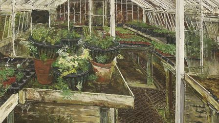 Works by plantsman/artist Olwyn Bowey sold n the auction by Sworders, of the modern art collection o