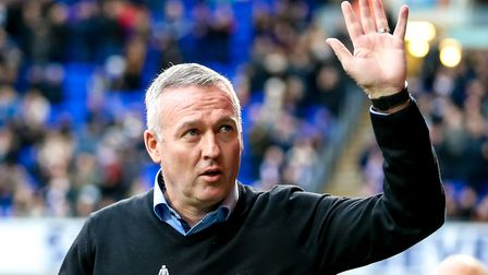 Town manager Paul Lambert is bidding to move the club away from relegation trouble. Picture: STEVE W