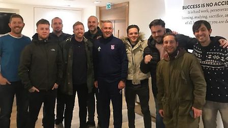 Paul Lambert has twice invited the 'Blue Action' group of Ipswich Town fans to Playford Road. Pictur