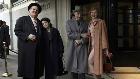 Steve Coogan and John C Reilly as the classic comedy duo Laurel and Hardy with their wives Lucille a