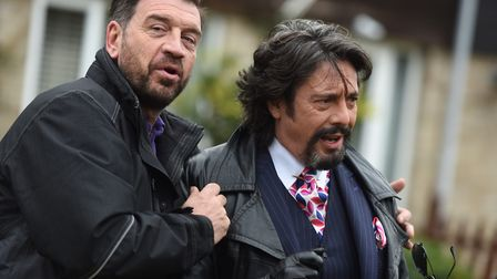 Presenters left to right, Nick Knowles and Laurence Llewelyn-Bowen of DIY SOS: The Big Build Picture