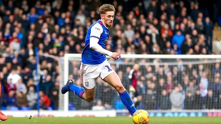Teddy Bishop is keen to stay at Ipswich Town beyond the end of his contract this summer. Photo: Stev