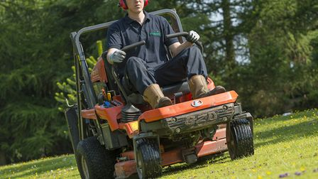 Mowing by Countrywide Grounds maintenances staff. Picture: BERNARD O'SULLIVAN