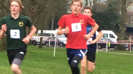 The Peck brothers, from Mildenhall. Ben (No. 3) won the under-13 title at the South of England Champ