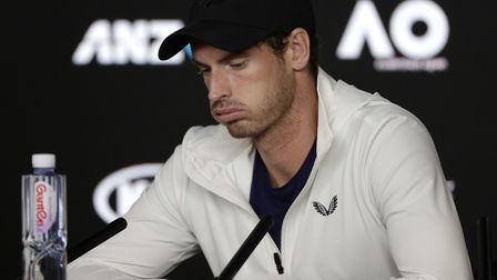 Andy Muuray says a hip injury means he cam't continue playing tennis. Picture: PA SPORT