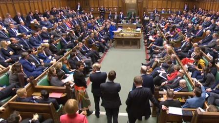 Prime Minister Theresa May speaks during the debate for the Government no confidence motion in the