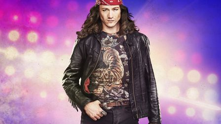 Kevin Clifton as Stacee Jaxx in the glam-rock musical Rock of Ages Photo: Selladoor Worldwide