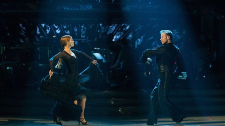 Stacey Dooley, Kevin Clifton performing in Strictly Come Dancing 2018- (C) BBC - Photographer: Guy L